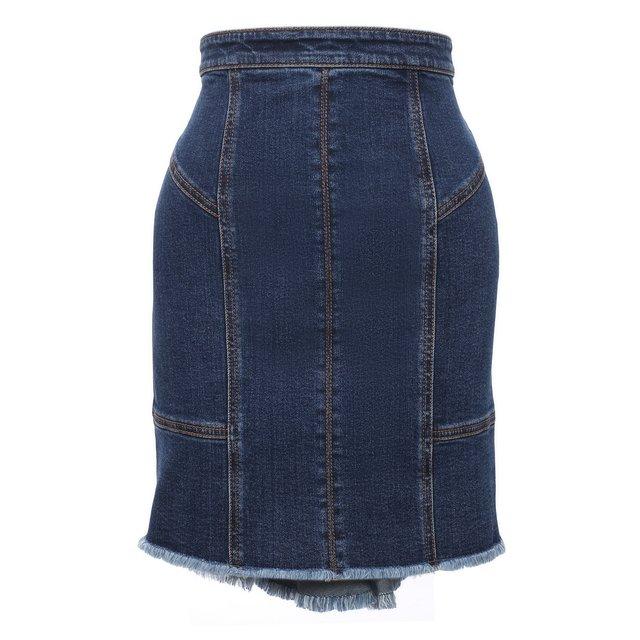 Джинсовая юбка Alexander McQueen