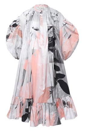 Женское хлопковое платье ALEXANDER MCQUEEN разноцветного цвета, арт. 651061/QCAB4 | Фото 1