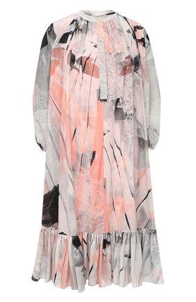 Женское шелковое платье ALEXANDER MCQUEEN разноцветного цвета, арт. 651094/QZACI | Фото 1