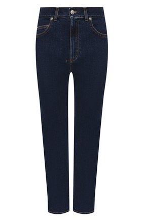 Женские джинсы ALEXANDER MCQUEEN синего цвета, арт. 653509/QMAA8 | Фото 1 (Материал внешний: Хлопок; Силуэт Ж (брюки и джинсы): Прямые; Стили: Кэжуэл; Длина (брюки, джинсы): Стандартные; Кросс-КТ: Деним)