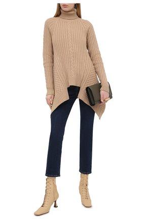 Женские джинсы ALEXANDER MCQUEEN синего цвета, арт. 653509/QMAA8 | Фото 2 (Материал внешний: Хлопок; Силуэт Ж (брюки и джинсы): Прямые; Стили: Кэжуэл; Длина (брюки, джинсы): Стандартные; Кросс-КТ: Деним)