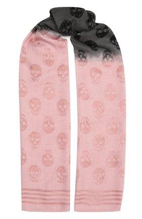 Женская шаль ALEXANDER MCQUEEN разноцветного цвета, арт. 651769/3D25Q   Фото 1 (Материал: Текстиль)
