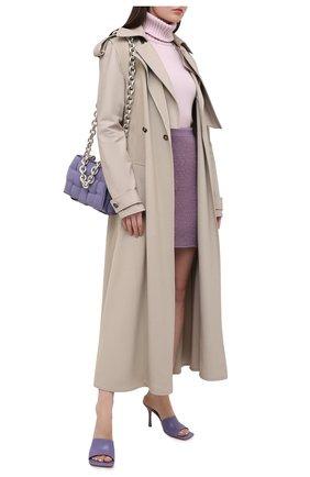 Женская кашемировая водолазка ALEXANDER MCQUEEN розового цвета, арт. 650363/Q1ATK   Фото 2 (Материал внешний: Шерсть, Кашемир; Рукава: Длинные; Стили: Кэжуэл; Женское Кросс-КТ: Водолазка-одежда; Длина (для топов): Удлиненные)