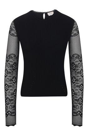 Женский пуловер из вискозы ALEXANDER MCQUEEN черного цвета, арт. 650324/Q1AS1 | Фото 1