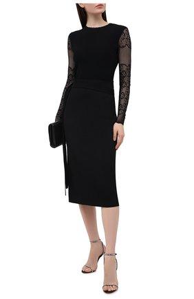 Женский пуловер из вискозы ALEXANDER MCQUEEN черного цвета, арт. 650324/Q1AS1 | Фото 2