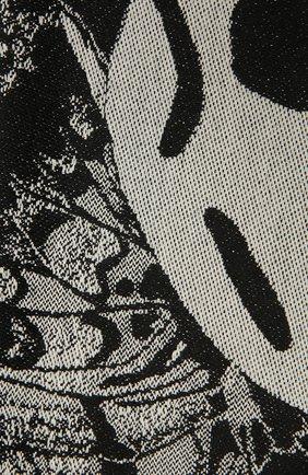 Женский шерстяной шарф ALEXANDER MCQUEEN черно-белого цвета, арт. 646450/3200Q | Фото 2 (Материал: Шерсть)