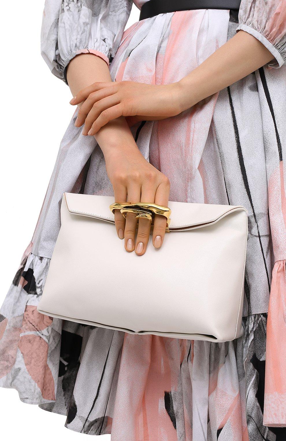 Женский клатч knuckle ALEXANDER MCQUEEN белого цвета, арт. 631865/CSRRT | Фото 2