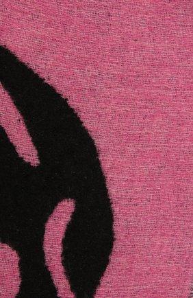 Женский шарф ALEXANDER MCQUEEN розового цвета, арт. 628294/3C78Q   Фото 2 (Материал: Синтетический материал, Текстиль, Шерсть)