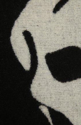 Женский шарф ALEXANDER MCQUEEN черно-белого цвета, арт. 628294/3C78Q | Фото 2 (Материал: Текстиль, Синтетический материал, Шерсть)