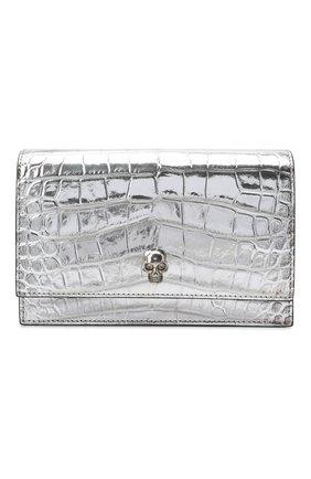 Женская сумка skull mini ALEXANDER MCQUEEN серебряного цвета, арт. 613088/1RFD0   Фото 1