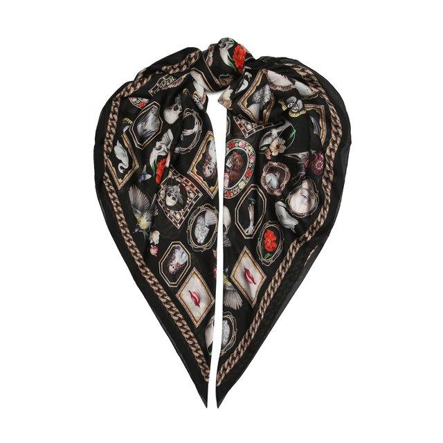 Шелковый платок Alexander McQueen