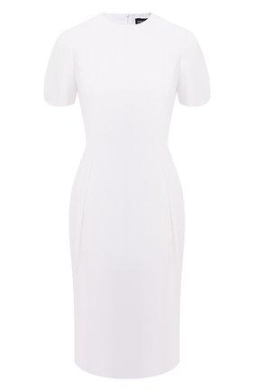 Женское шелковое платье GIORGIO ARMANI белого цвета, арт. 1SHVA07U/T0010 | Фото 1