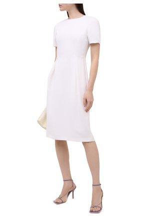 Женское шелковое платье GIORGIO ARMANI белого цвета, арт. 1SHVA07U/T0010 | Фото 2