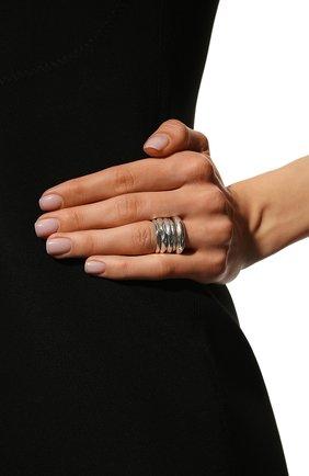 Женское комплект из пяти колец BOTTEGA VENETA серебряного цвета, арт. 637081/V5070 | Фото 2