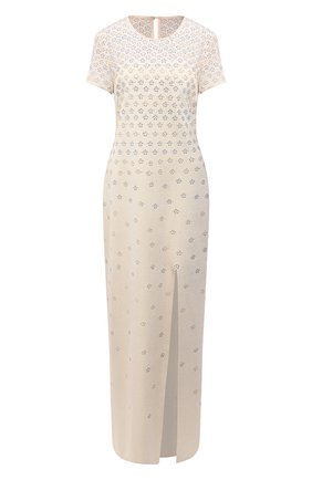 Женское платье из вискозы ST. JOHN золотого цвета, арт. K12G081 | Фото 1