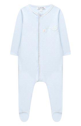 Детский хлопковый комбинезон MAGNOLIA BABY голубого цвета, арт. E103-22-LB | Фото 1