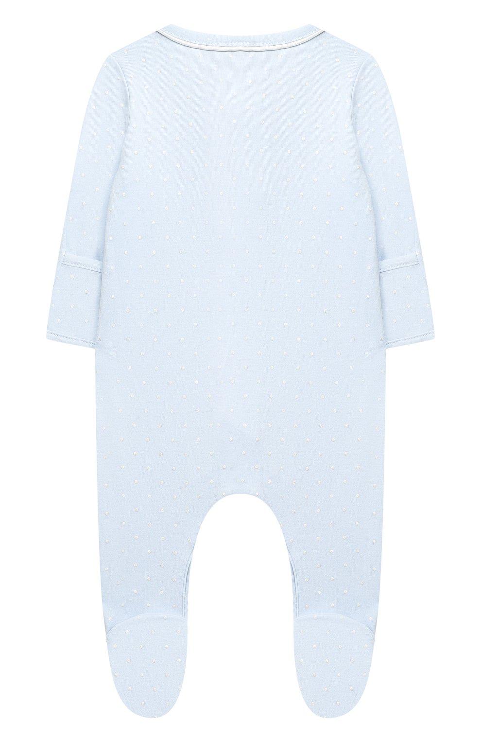 Детский хлопковый комбинезон MAGNOLIA BABY голубого цвета, арт. E103-22-LB | Фото 2
