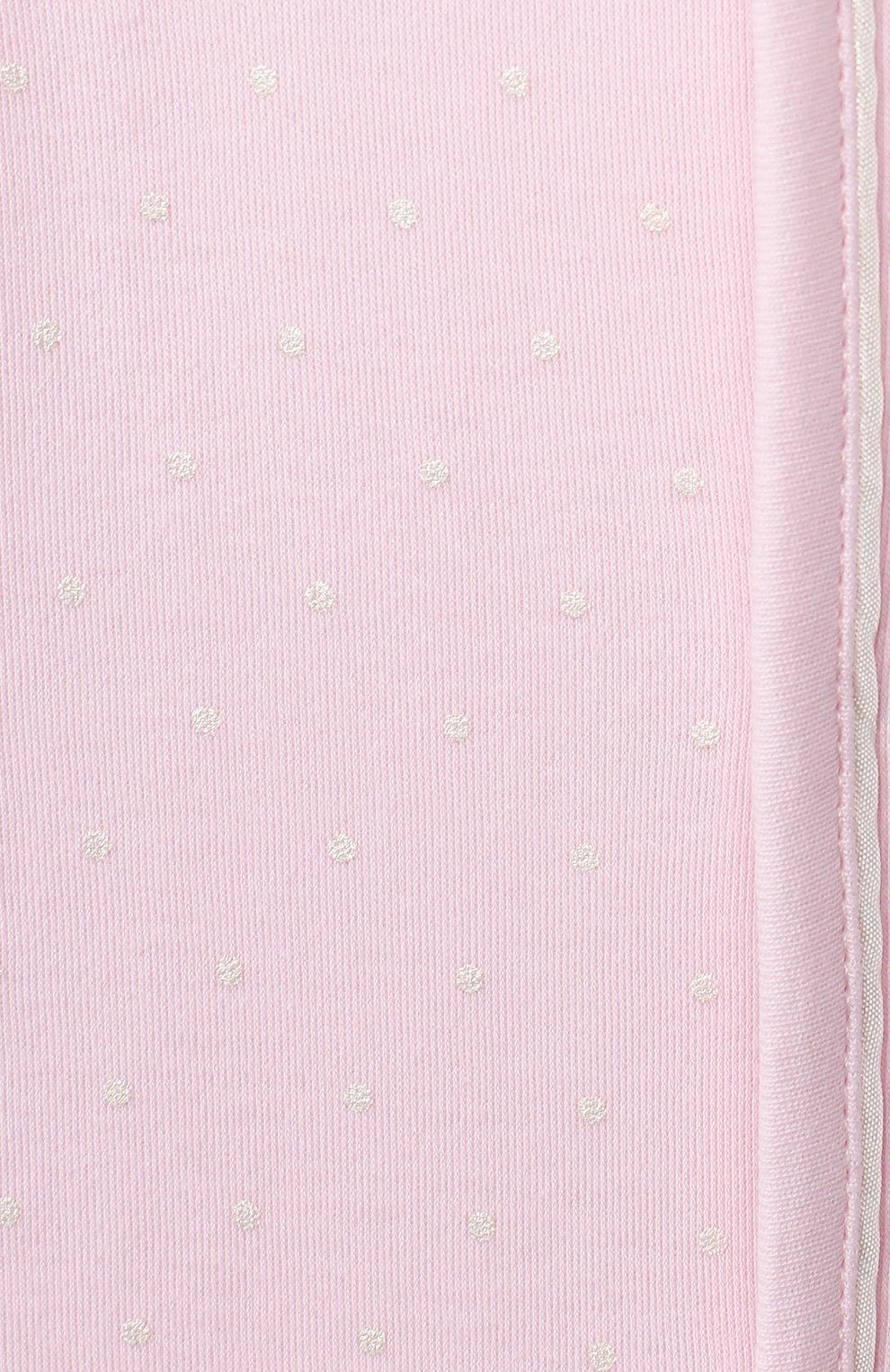 Детский хлопковый комбинезон MAGNOLIA BABY розового цвета, арт. E103-22-PK   Фото 3 (Рукава: Длинные; Материал внешний: Хлопок)