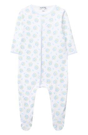 Детский хлопковый комбинезон MAGNOLIA BABY голубого цвета, арт. 861-402P-LB | Фото 1