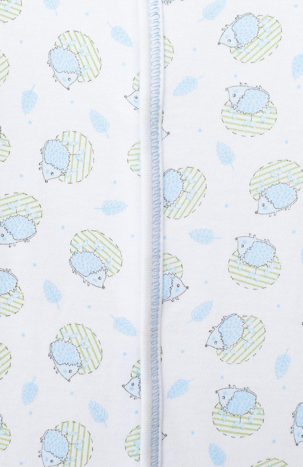 Детский хлопковый комбинезон MAGNOLIA BABY голубого цвета, арт. 861-402P-LB | Фото 3