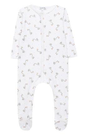 Детский хлопковый комбинезон MAGNOLIA BABY белого цвета, арт. E103-22-WH | Фото 1