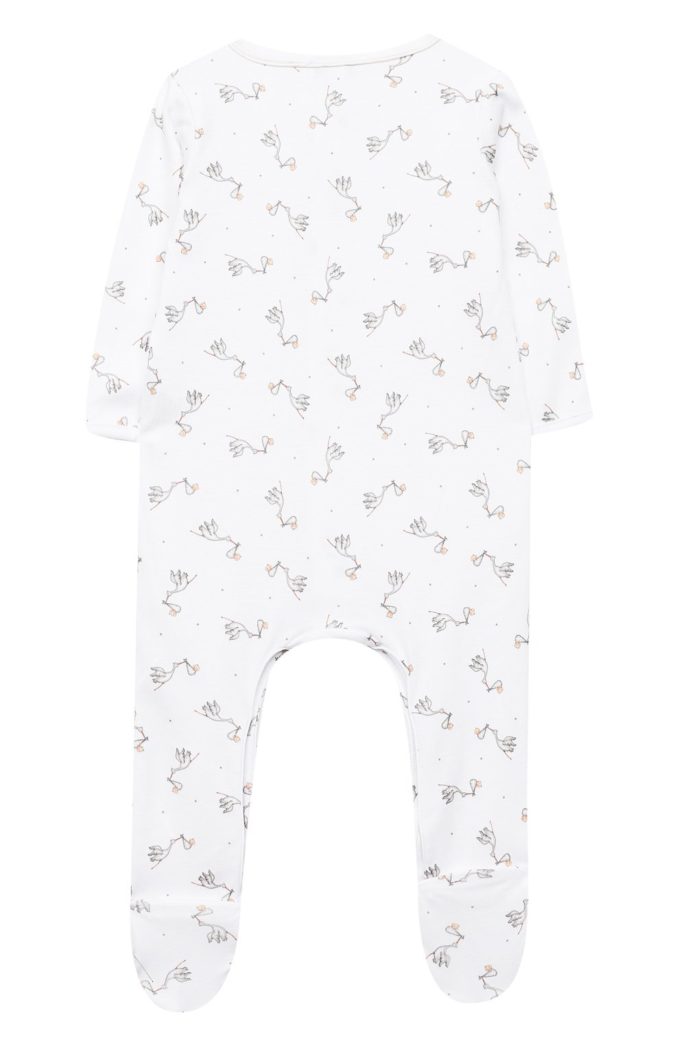 Детский хлопковый комбинезон MAGNOLIA BABY белого цвета, арт. E103-22-WH   Фото 2 (Рукава: Длинные; Материал внешний: Хлопок; Ростовка одежда: 0 - 3 мес   50 - 60 см, 9 мес   74 см)