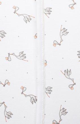 Детский хлопковый комбинезон MAGNOLIA BABY белого цвета, арт. E103-22-WH   Фото 3 (Рукава: Длинные; Материал внешний: Хлопок; Ростовка одежда: 0 - 3 мес   50 - 60 см, 9 мес   74 см)