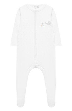 Детский хлопковый комбинезон MAGNOLIA BABY белого цвета, арт. E103-22P-WH | Фото 1