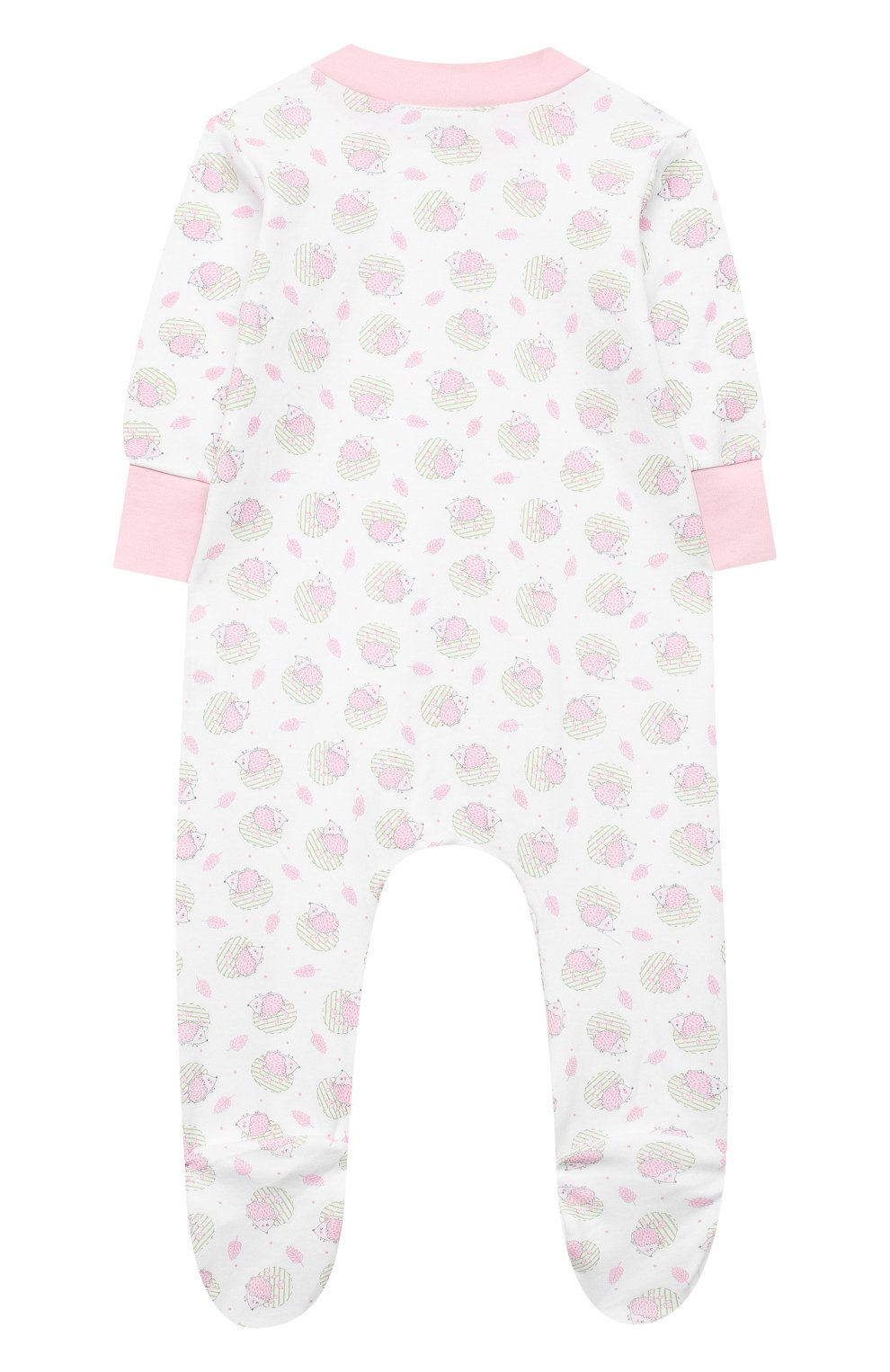Детский хлопковый комбинезон MAGNOLIA BABY розового цвета, арт. 861-428P-PK   Фото 2 (Рукава: Длинные; Материал внешний: Хлопок; Ростовка одежда: 12 мес   80 см, 3 мес   62 см, 6 мес   68 см, 9 мес   74 см, 0 - 3 мес   50 - 60 см)