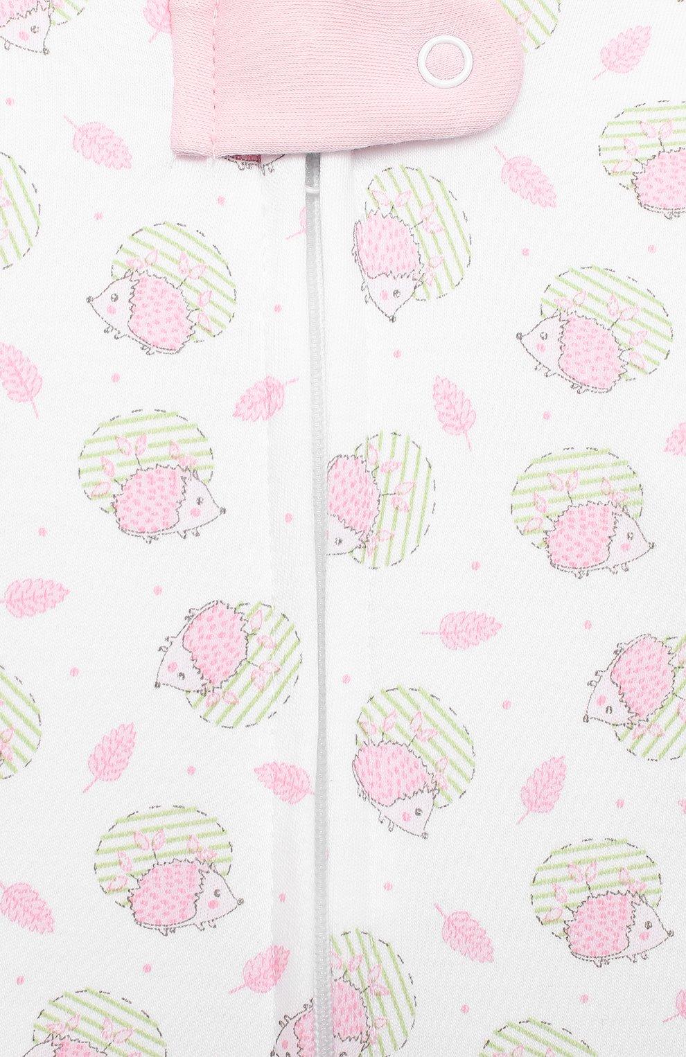 Детский хлопковый комбинезон MAGNOLIA BABY розового цвета, арт. 861-428P-PK   Фото 3 (Рукава: Длинные; Материал внешний: Хлопок; Ростовка одежда: 12 мес   80 см, 3 мес   62 см, 6 мес   68 см, 9 мес   74 см, 0 - 3 мес   50 - 60 см)