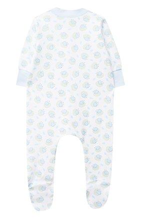 Детский хлопковый комбинезон MAGNOLIA BABY голубого цвета, арт. 861-428P-LB | Фото 2