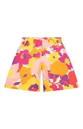 Детские хлопковые шорты IL GUFO разноцветного цвета, арт. P21PB148C4072/5A-8A   Фото 2 (Материал внешний: Хлопок; Девочки Кросс-КТ: Шорты-одежда; Ростовка одежда: 4 года   104 см, 5 лет   110 см)