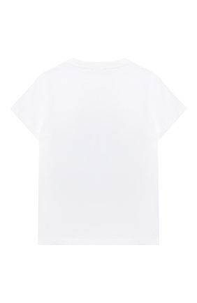 Детский хлопковая футболка IL GUFO белого цвета, арт. P21TS274M0014/5A-8A | Фото 2