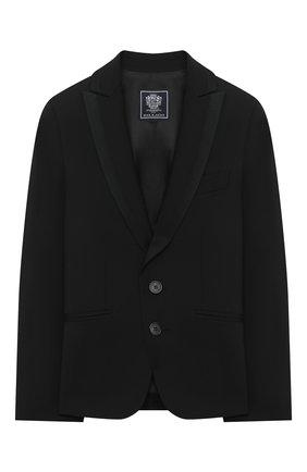 Детский шерстяной костюм DAL LAGO черного цвета, арт. N057/1011/13-16 | Фото 2 (Рукава: Длинные; Материал подклада: Вискоза; Материал внешний: Шерсть; Кросс-КТ: костюм; Ростовка одежда: 13 - 15 лет | 158 см, 16 лет | 164 см)