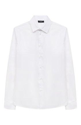 Детская хлопковая рубашка DAL LAGO белого цвета, арт. N402/9017/13-16 | Фото 1
