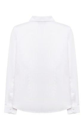 Детская хлопковая рубашка DAL LAGO белого цвета, арт. N402/9017/1-6 | Фото 2