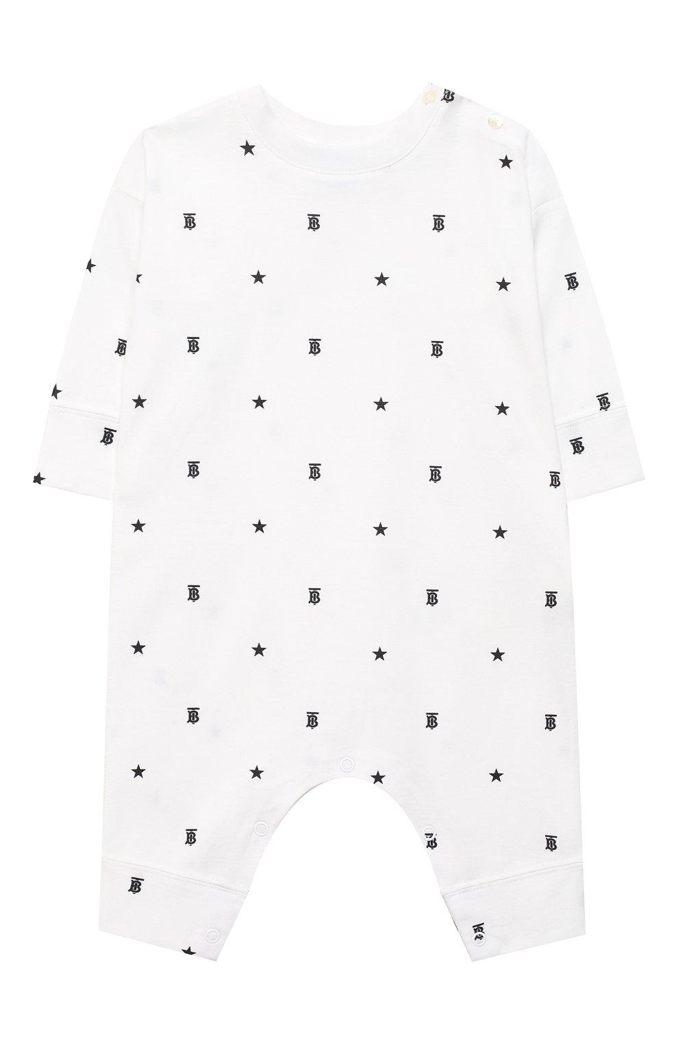 Детский комплект из двух комбинезонов BURBERRY черно-белого цвета, арт. 8037114   Фото 2