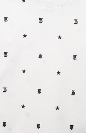Детский комплект из двух комбинезонов BURBERRY черно-белого цвета, арт. 8037114   Фото 4