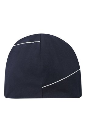 Детского хлопковая шапка EMPORIO ARMANI темно-синего цвета, арт. 404391/1P446 | Фото 2