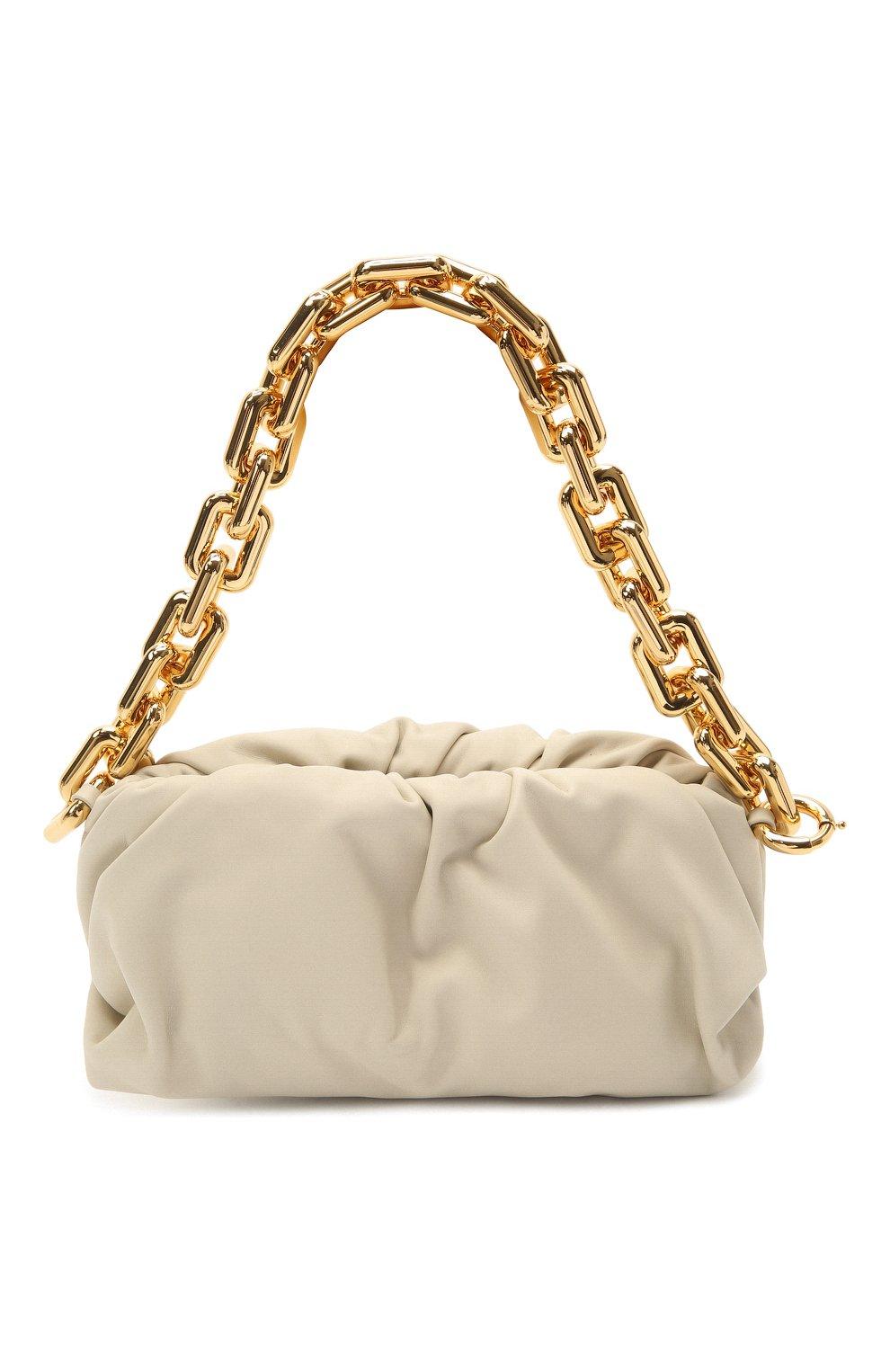 Женская сумка chain pouch BOTTEGA VENETA белого цвета, арт. 620230/VCP40   Фото 1