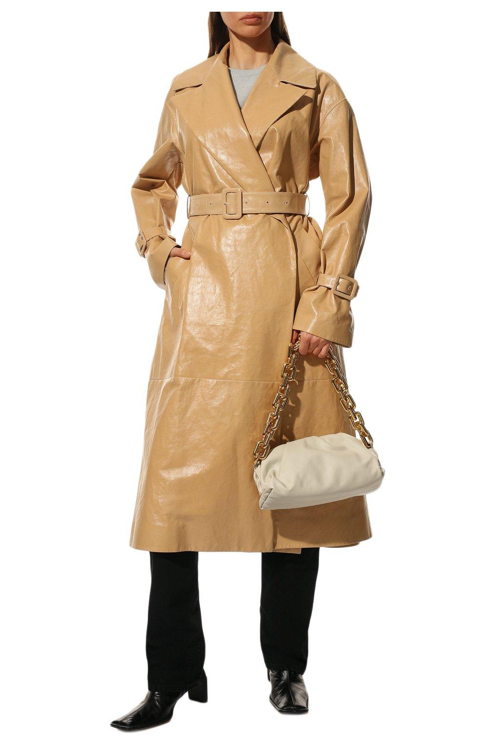 Женская сумка chain pouch BOTTEGA VENETA белого цвета, арт. 620230/VCP40   Фото 3