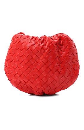 Женская сумка bulb mini BOTTEGA VENETA красного цвета, арт. 651905/V08Z1   Фото 1 (Размер: mini; Сумки-технические: Сумки через плечо; Материал: Натуральная кожа)