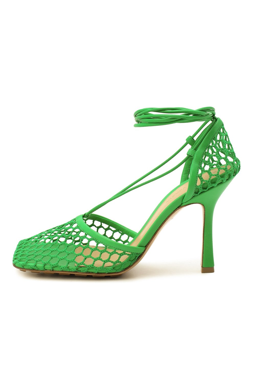 Женские текстильные босоножки stretch BOTTEGA VENETA зеленого цвета, арт. 651388/VBSD3 | Фото 4