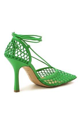 Женские текстильные босоножки stretch BOTTEGA VENETA зеленого цвета, арт. 651388/VBSD3 | Фото 5