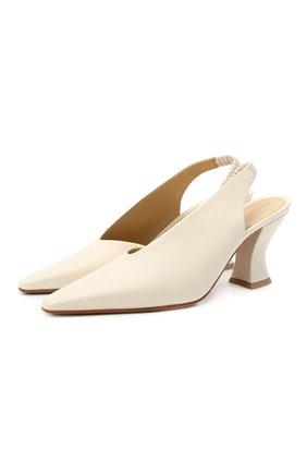 Женские кожаные туфли BOTTEGA VENETA кремвого цвета, арт. 652474/VBSD0 | Фото 1