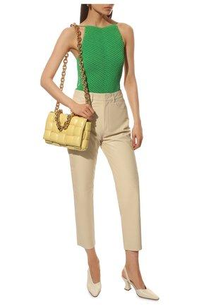 Женские кожаные туфли BOTTEGA VENETA кремвого цвета, арт. 652474/VBSD0 | Фото 2