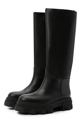 Женские кожаные сапоги GIA COUTURE черного цвета, арт. PERNI-07 B 101 | Фото 1