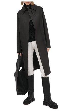 Женские кожаные сапоги GIA COUTURE черного цвета, арт. PERNI-07 B 101 | Фото 2