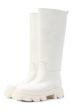 Женские кожаные сапоги GIA COUTURE белого цвета, арт. PERNI-07 B 102 | Фото 1
