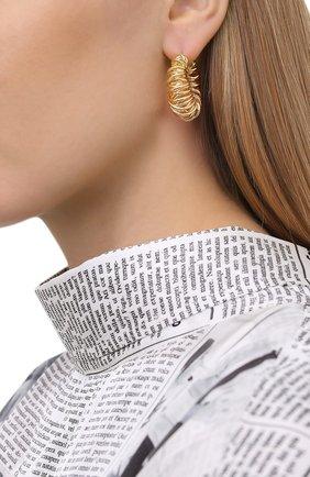 Женские серьги BOTTEGA VENETA золотого цвета, арт. 649276/VAHU0 | Фото 2